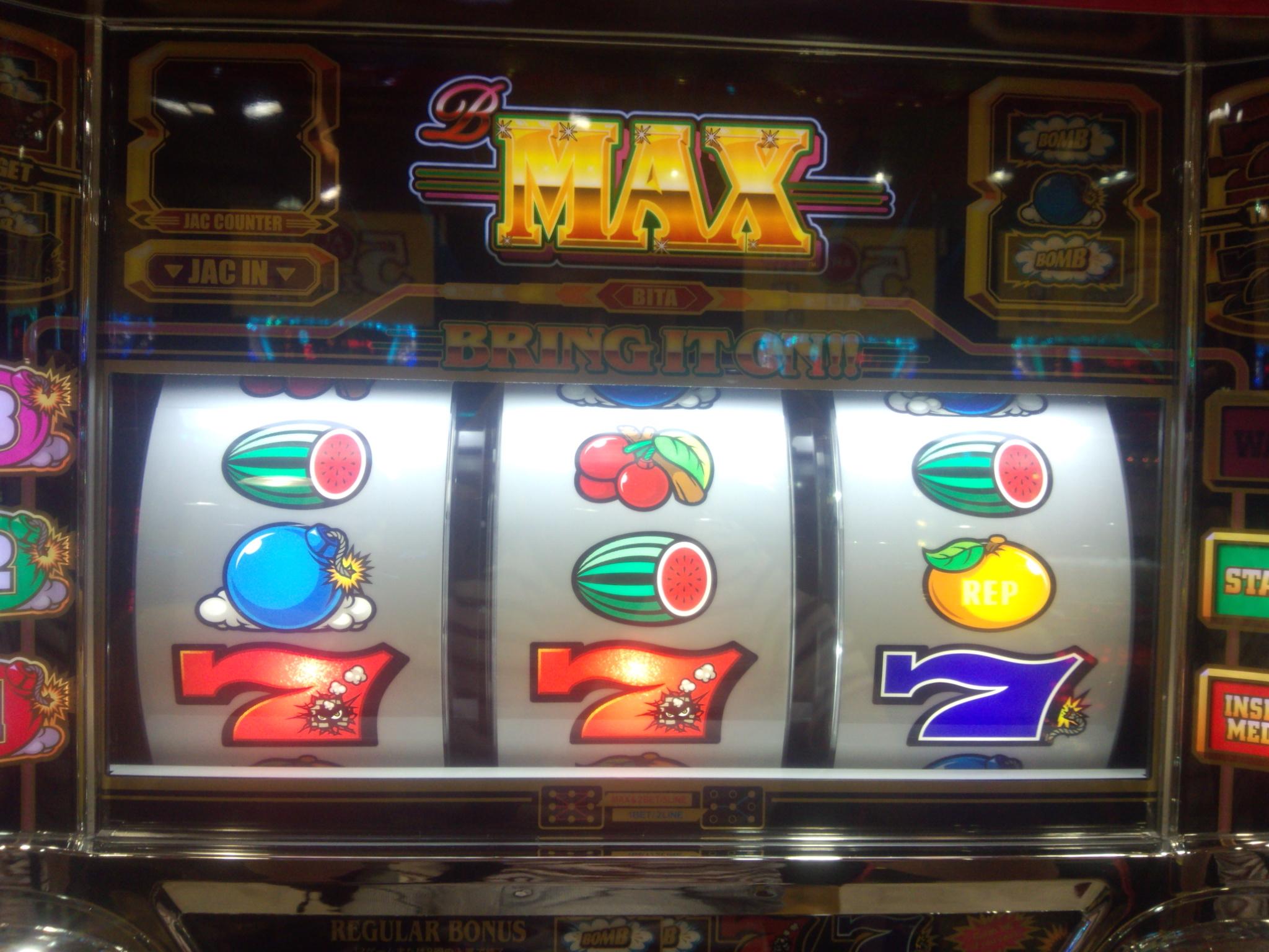 【B-MAX】7並びスイカV字リーチ目