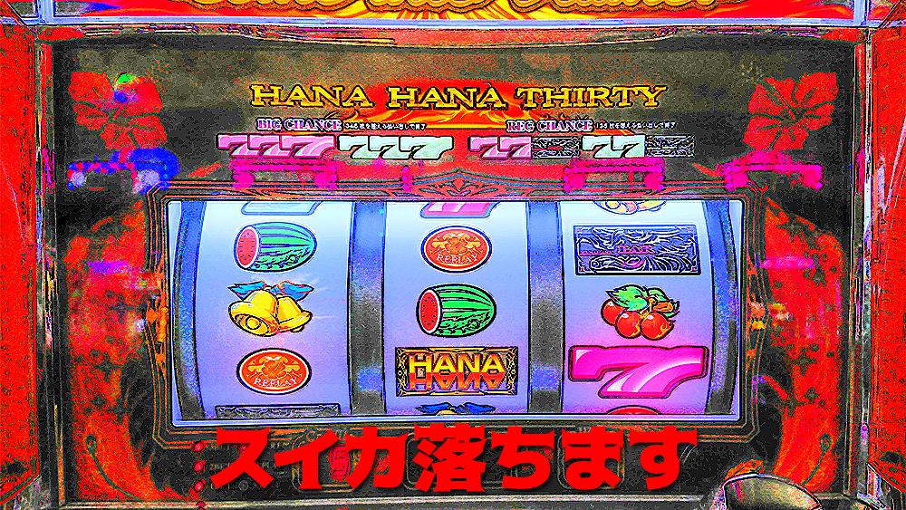 【ハナハナ鳳凰】BIG中にスイカがめちゃくちゃ落ちる台を打った結果